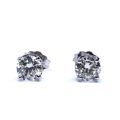.67CTW ROUND BRILLIANT CUT DIAMOND STUD EARRINGS