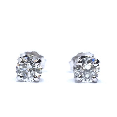 .66CTW ROUND BRILLIANT CUT DIAMOND STUD EARRINGS