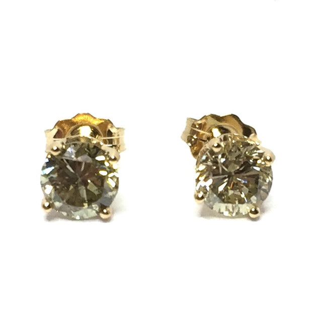 1.02CTW ROUND BRILLIANT CUT DIAMOND STUD EARRINGS