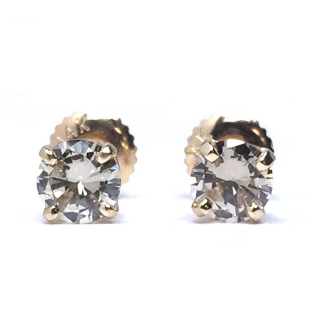 .80CTW ROUND BRILLIANT CUT DIAMOND STUD EARRINGS
