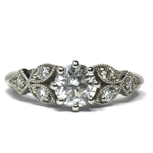 Classic Vintage Engagement Ring .96ctw (Ready to Ship)