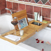 Large bamboo expandable bathtub tray