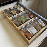 Simhoo Bamboo Spice rack In-Drawer Kitchen Cabinet Storage/Organizer