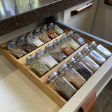 Simhoo Bamboo Spice rack In-Drawer Kitchen Storage/Organizer 3-Tier Insert large