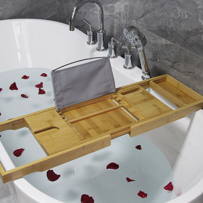 Bamboo bath tray bamboo base holder