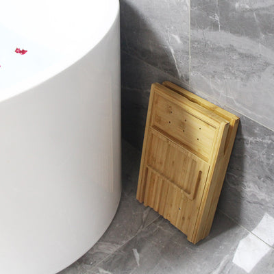 Bamboo foldable bath tray