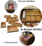 Bamboo Cloth Storage Box Closet Dresser Drawe, Bamboo Drawer Jewelry Tray Ornament  Storage Box Stackable, Bamboo Drawer Jewelry Tray Ornament Jewellery Display Storage Box Stackable