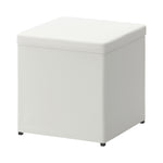 BOSNÄS White Footstool with Storage