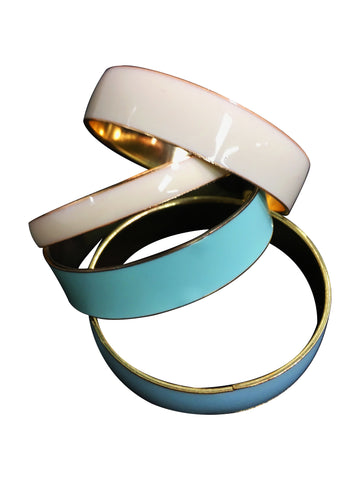 Beige & Turquoise Bangles