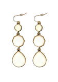 Beige Drop Earrings