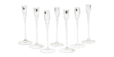 Candle Holder Glass  (Tall) - 7pcs