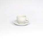 Ceramic White Tea Cup with Saucer Set