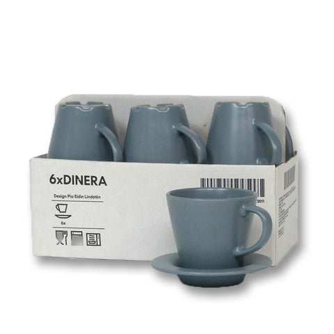 DINERA Cup and Saucer (Grey)