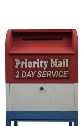 MailBox Priority Mail Red White Blue