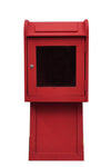MailBox Priority Mail Dark Red