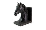 Pair of Black Horse Bookends