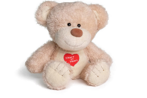 Light Beige Heart to Heart Plush Soft Toy