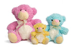 Colourful Plush Teddy Bear Set with Ribbon