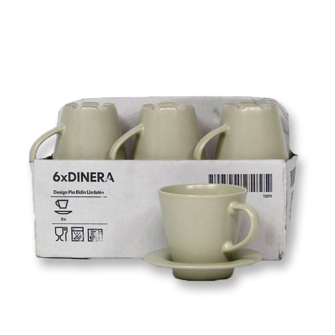 DINERA Cup and Saucer (Beige)