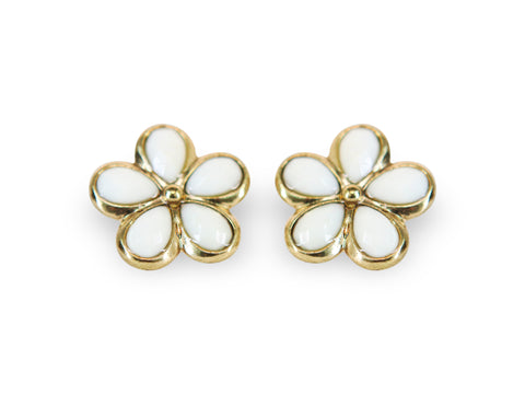 FOREVER 21 White Flower Stud Earrings