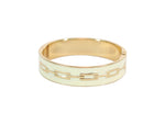 KAZE Gold and Cream Bangle