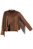 Mango Women's Cowboy Jacket with Tassels