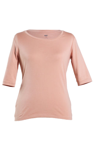 Uniqlo Supima Women Pink Top