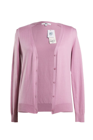 Uniqlo Women Supima Cotton V Neck Cardigan