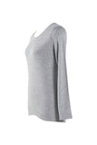 Uniqlo Women Supima Cotton  Crew Neck Long Sleeve T