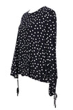 Mango Casual Black Round Dots Shirt