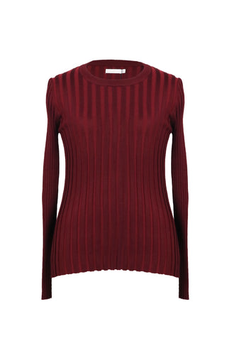 Padini Maroon Long Sleeve Women's Top