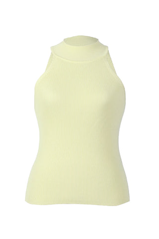 Zara Knit Light Yellow Women's Top