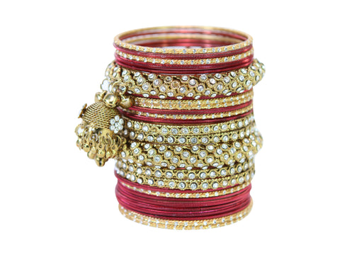 Indian Red and Gold Bangle