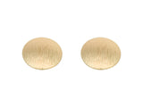 LOVISA Gold Texture Oversized Disc Earring