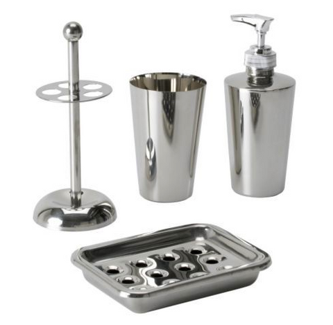 IKEA SEMVIK 4 Piece Bathroom Set