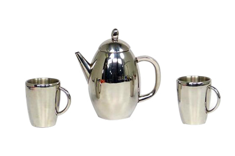 Stainless Steel Pot and Cup