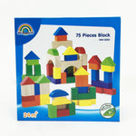 Geometric Wooden Construction Blocks