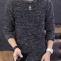 Stylish thin knitted pullover