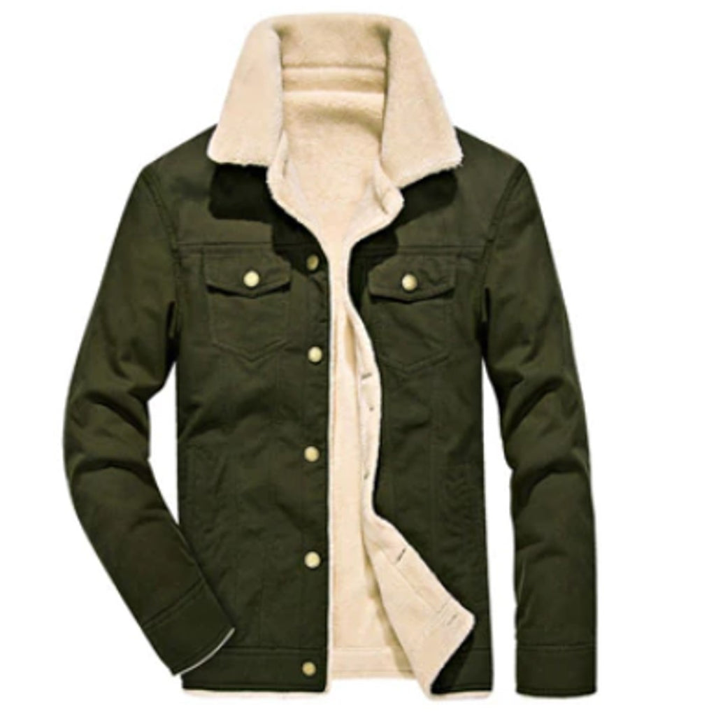 Warm men's jacket