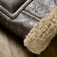 Coat from a natural sheepskin
