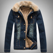 Stylish, warm denim jacket