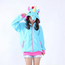 Load image into Gallery viewer, Full Unicorn Hoodie Sweatshirt - Unicorn Roll