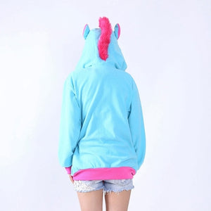Full Unicorn Hoodie Sweatshirt - Unicorn Roll