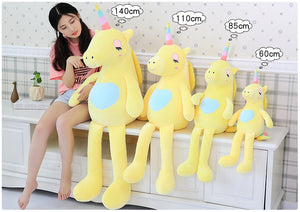 Giant Sitting Unicorn Plush Toy - Unicorn Roll