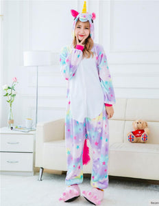 Stars Unicorn Onesie Pajamas - Unicorn Roll