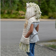 Load image into Gallery viewer, Knitted Unicorn Scarf - Unicorn Roll