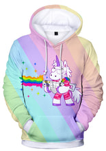 Load image into Gallery viewer, Punk Rainbow Unicorn Hoodie - Unicorn Roll