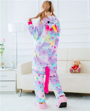 Load image into Gallery viewer, Stars Unicorn Onesie Pajamas - Unicorn Roll