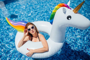 Inflatable Unicorn Swimming Ring - Unicorn Roll