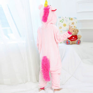 Pink Children Unicorn Pajamas - Unicorn Roll